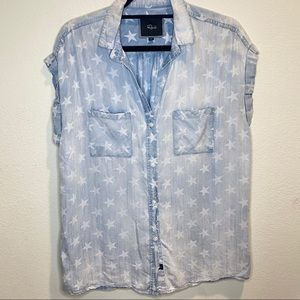 Rails Chambray Star Button Down